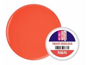 Wetlook - barevný UV gel - tmavě korálová