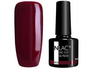 gel lak na nehty NLAC One step 015 - vínová