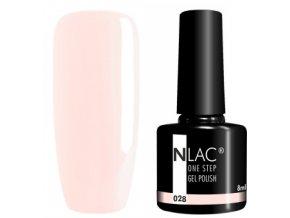 gel lak na nehty NLAC One step 028 - bledě růžová