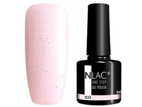 gel lak na nehty NLAC One step 035 - třpytivá růžová