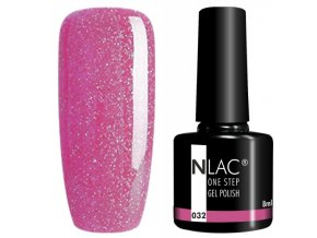 gel lak na nehty NLAC One step 032 - glitr nachová