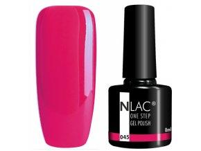 gel lak na nehty NLAC One step 045 - neon červenorůžová