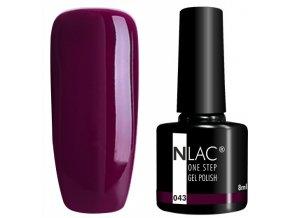 gel lak na nehty NLAC One step 043 - tmavě nachová