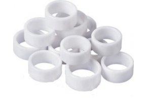 Prsteny bílé pro nail art