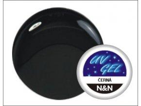 Barevný UV gel N&N 5ml - barva černá