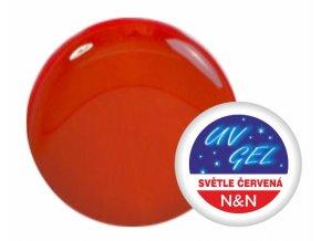 Barevný UV gel N&N 5ml - barva světle červená