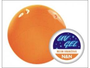 Barevný UV gel 5ml - neon oranžový