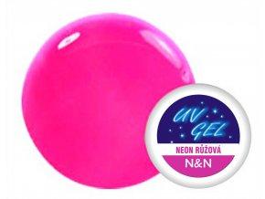 UV gel barevný neon růžový 5 ml