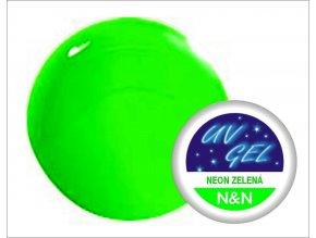 UV gel barevný neon zelený 5 ml