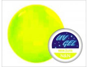 UV gel barevný neon žlutý 5 ml