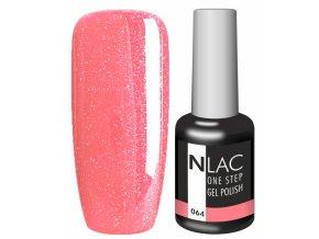 Gel lak NLAC One step 064 - glitrová jahodová
