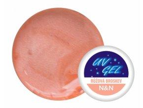 Barevný UV gel perleťový růžová broskev 5ml