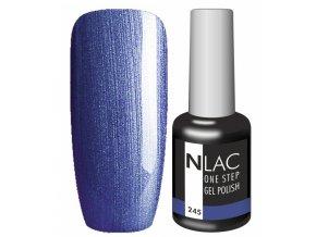 Gel lak NLAC One step 245 - glitrová tmavě modrá