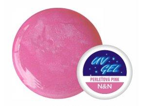 Barevný UV gel N&N 5ml - barva perleťová pink