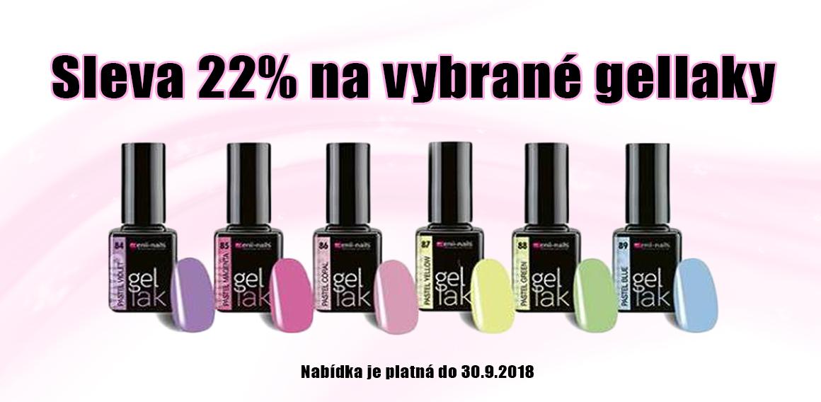 Sleva 22% na vybrané barvy gellaků
