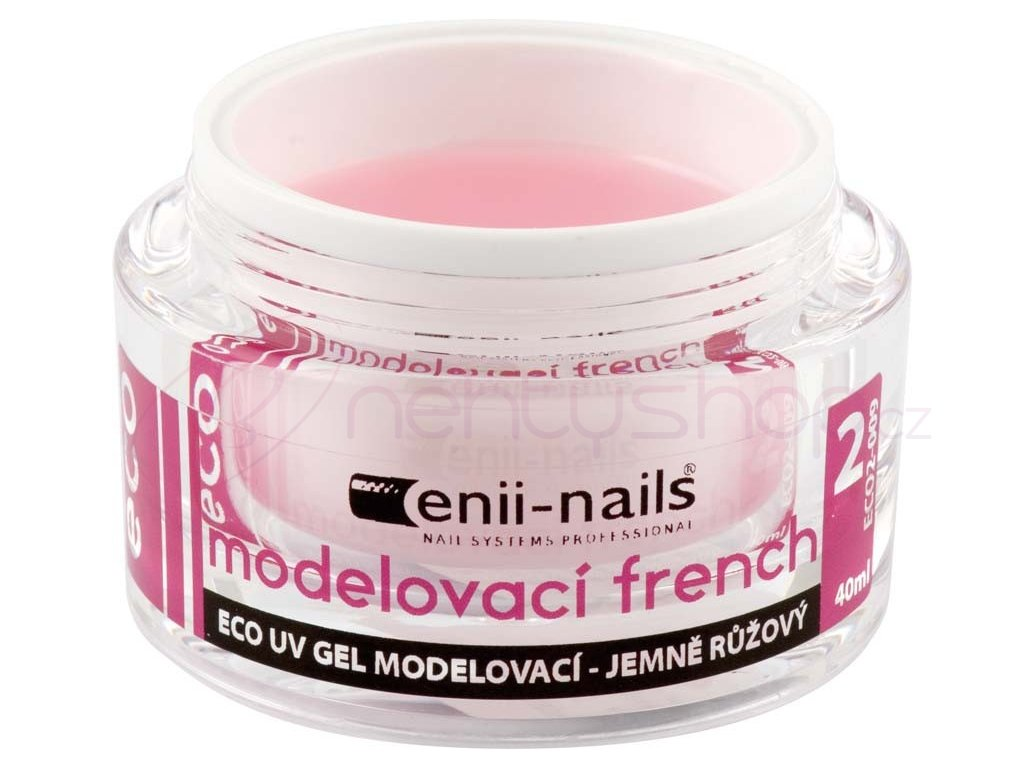 ECO2 UV gel modelovací french jemně růžový 10ml