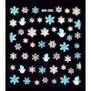 Vánoční nálepky bílo-modré
