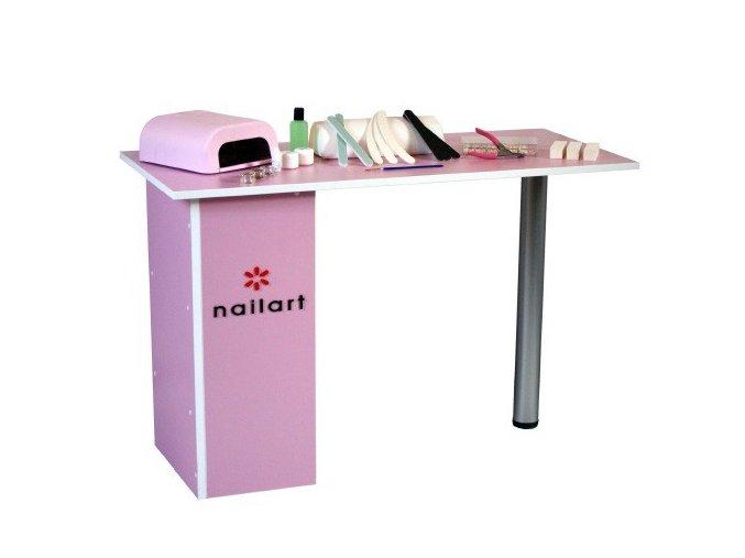 Kosmetický stůl - růžový