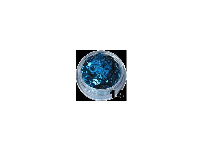 Flitry - modro-stříbrné kolečka na nehty