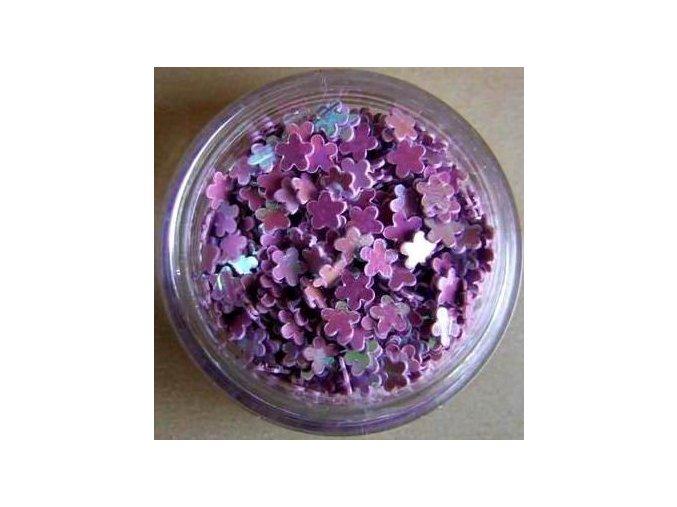 Zdobení nehtů kytky, plné (fialové), 300 ks
