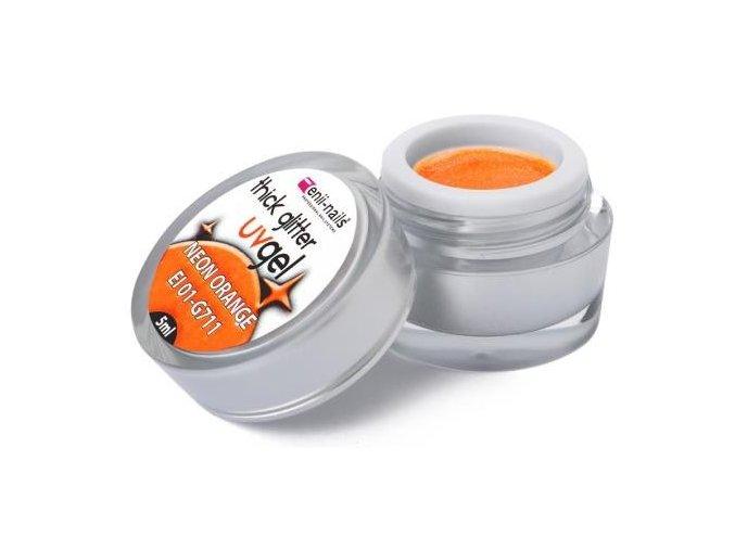 Glitrový gel - neon orange 5ml