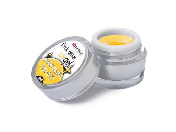 Glitrový gel - neon yellow 5ml