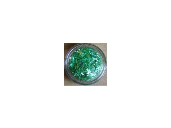 Zdobení nehtů - nitky, zelené