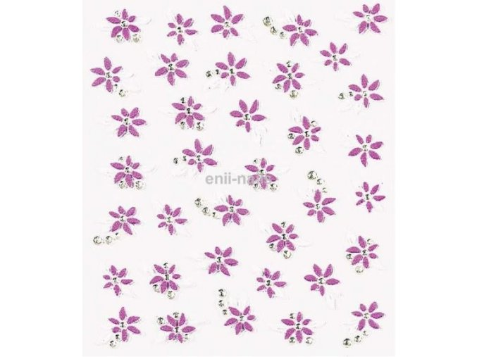 Nálepky na nehty - květy