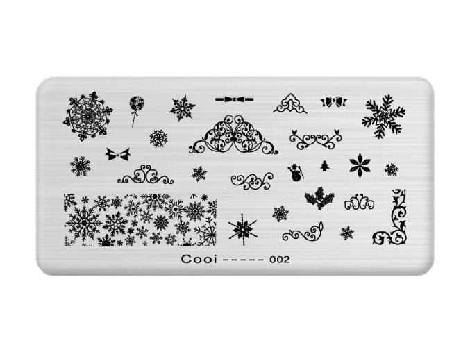 Destička medium CO 002 - vánoční