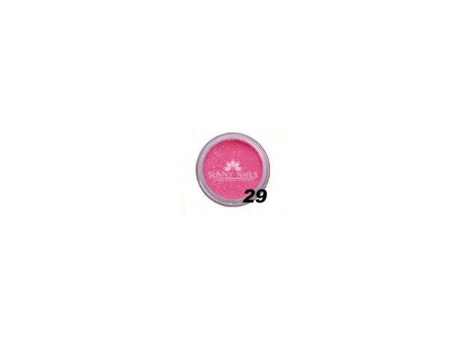 Barevný akryl, tmavě růžový glitter  7g