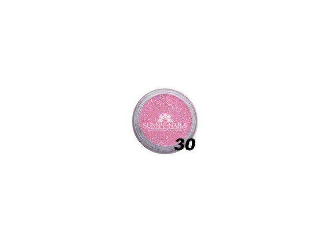 Barevný akryl, světle růžový glitter  7g