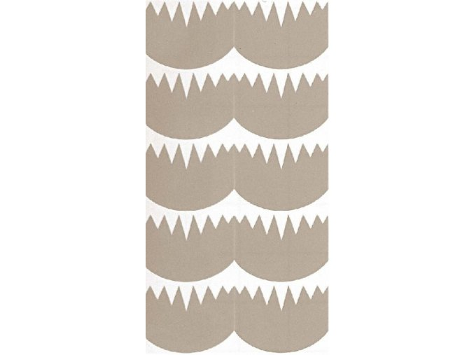 Zdobící šablona - velké zuby