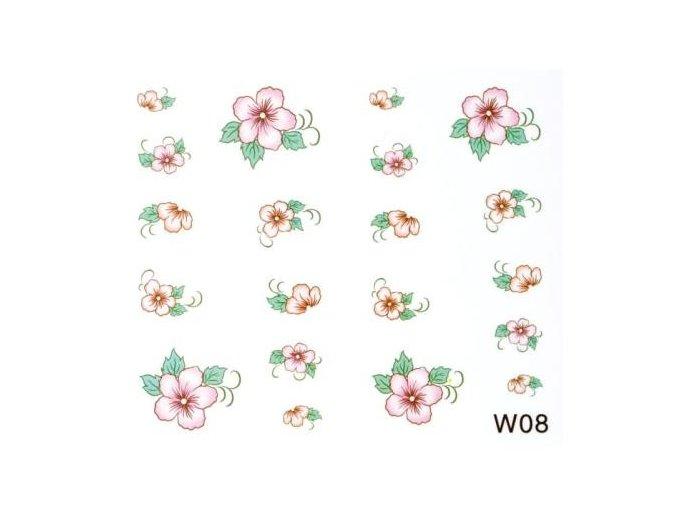 Vodolepky kytičky W08
