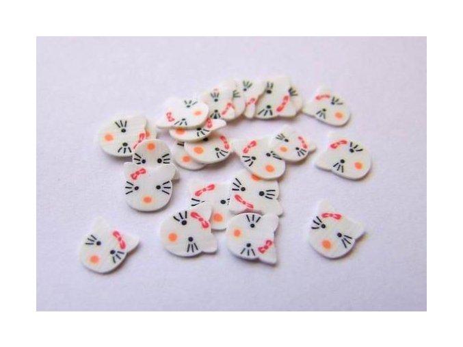 FIMO zdobení na nehty Hello Kitty, 1 ks