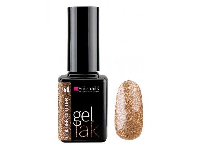 Glitter gel lak 11ml - golden glitter