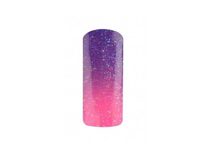 Thermo gel lak 5ml, glitter fialovo-růžová