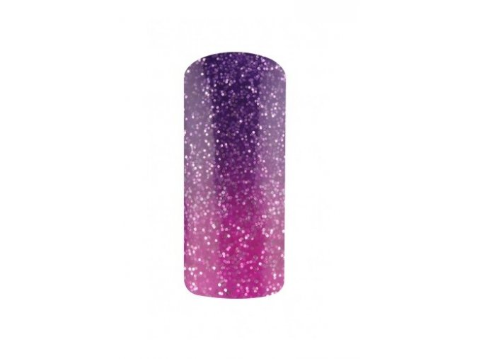 Thermo gel lak 15ml, glitter lila-violet