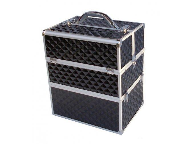 LCD 3D kosmetický kufr - černý