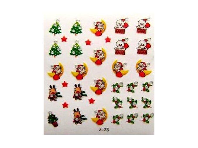 Vánoční nálepky na nehty 6