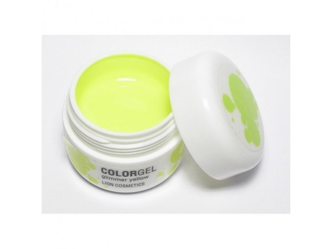 Lion UV gel barevný, neon žlutý 12ml