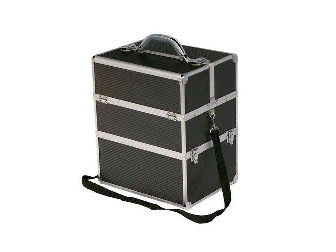 LCD kosmetický kufr, černý STRIP