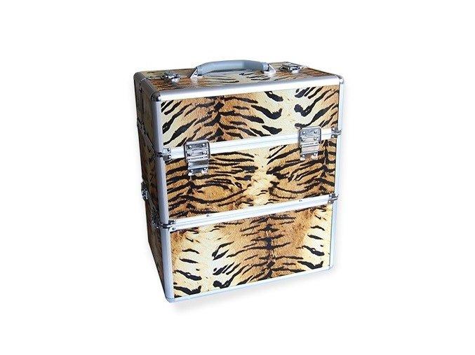LCD kosmetický kufr, vzor tygr