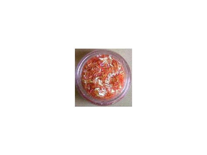Zdobení nehtů - nitky, oranžové