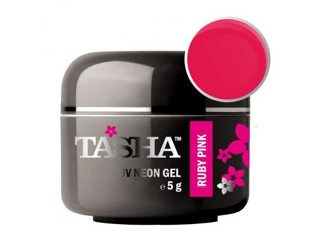 Barevný gel Neon Ruby Pink 5g Black Line