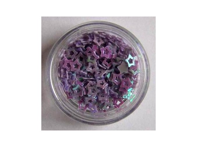 Zdobení nehtů hvězdičky, fialové 100 ks