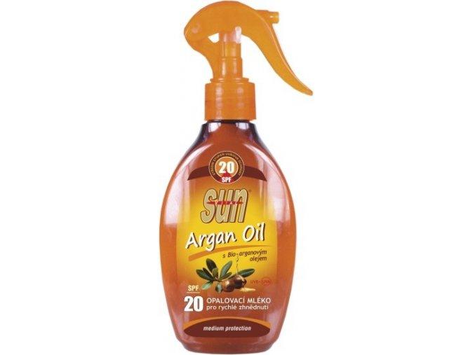 Opalovací mléko s arganovým olejem OF 20