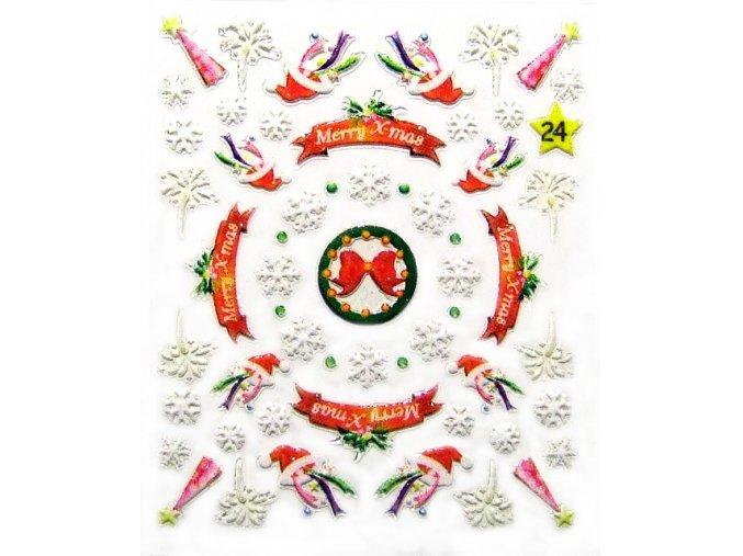 Vánoční nálepky na nehty