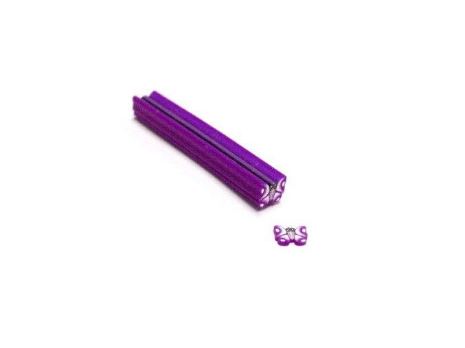 FIMO zdobení na nehty, fialový motýl