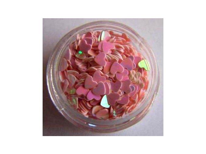 Zdobení nehtů srdíčka (růžové) 500ks