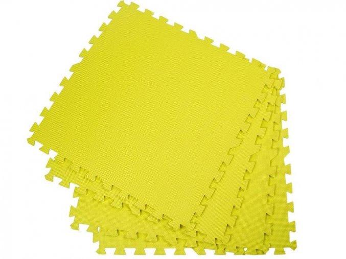 Podložka na cvičení - pěnový koberec - 60 x 60cm - 4 ks - žlutý